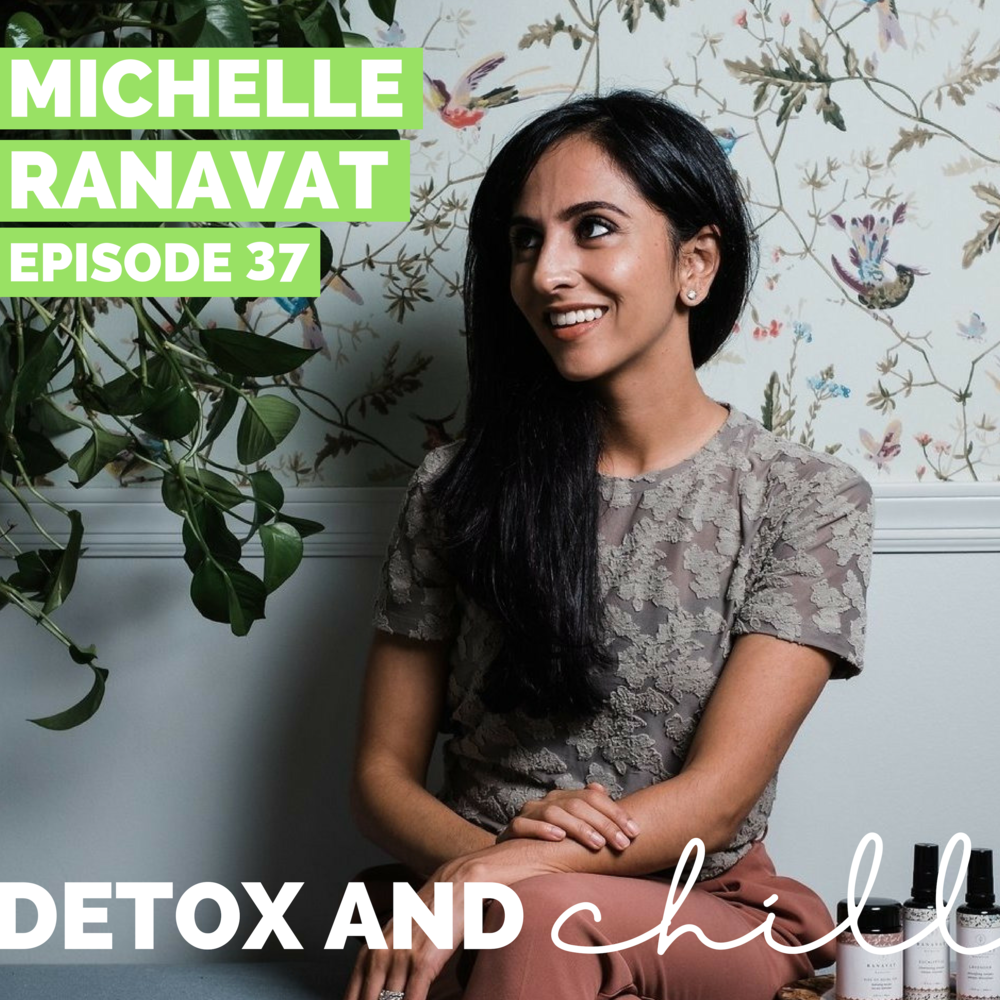 Episode #37: Michelle Ranavat // Engineer & Founder of Ranavat Botanics // Finding Your Royal Ritual & How to Claim Your Crown - Hi friends! We hope that you're staying warm wherever you are. There was a big storm this weekend in Boston, so Meg is spending a little extra time in Washington D.C., and Beck is cozied up enjoying the first real snow of the New Year! This week we're back with a super inspiring episode for you with Michelle Ranavat of Ranavat Botanics. We are so excited and honored to have her on the podcast - we've been planning this one for a long time!Michelle is the mother to 2 young boys and recently launched a natural skincare company inspired by the beauty rituals of Indian Royalty. We've had the amazing chance to try some of these products, and they are truly luxurious and amazing.In this episode we talk about…-How she started her amazing brand;-Her vision for the ingredients and how her background in engineering made product development seamless;-A typical day in her life;-Her thoughts on preconceptions about motherhood;-What products are next for her brand.You can find Michelle and Ranavat Botanics at the following places:Website — You can use our code 'DETOX15' for 15% off your order!InstagramFacebookWe will have an amazing giveaway with Michelle coming up - stay tuned!We'd love to hear what you think about this episode! Let's chat about it in our Facebook group is a safe space for anyone who joins, so don't forget to check us out there. Just search *SUPER EXLUSIVE* Detox & Chill Podcast Group. As always, don't forget to follow along with us on Instagram (@detoxandchillpodcast) and join our Facebook group. We love you!Sending all the good vibes and positive energy in this New Year <3!Love,Meg & Beck