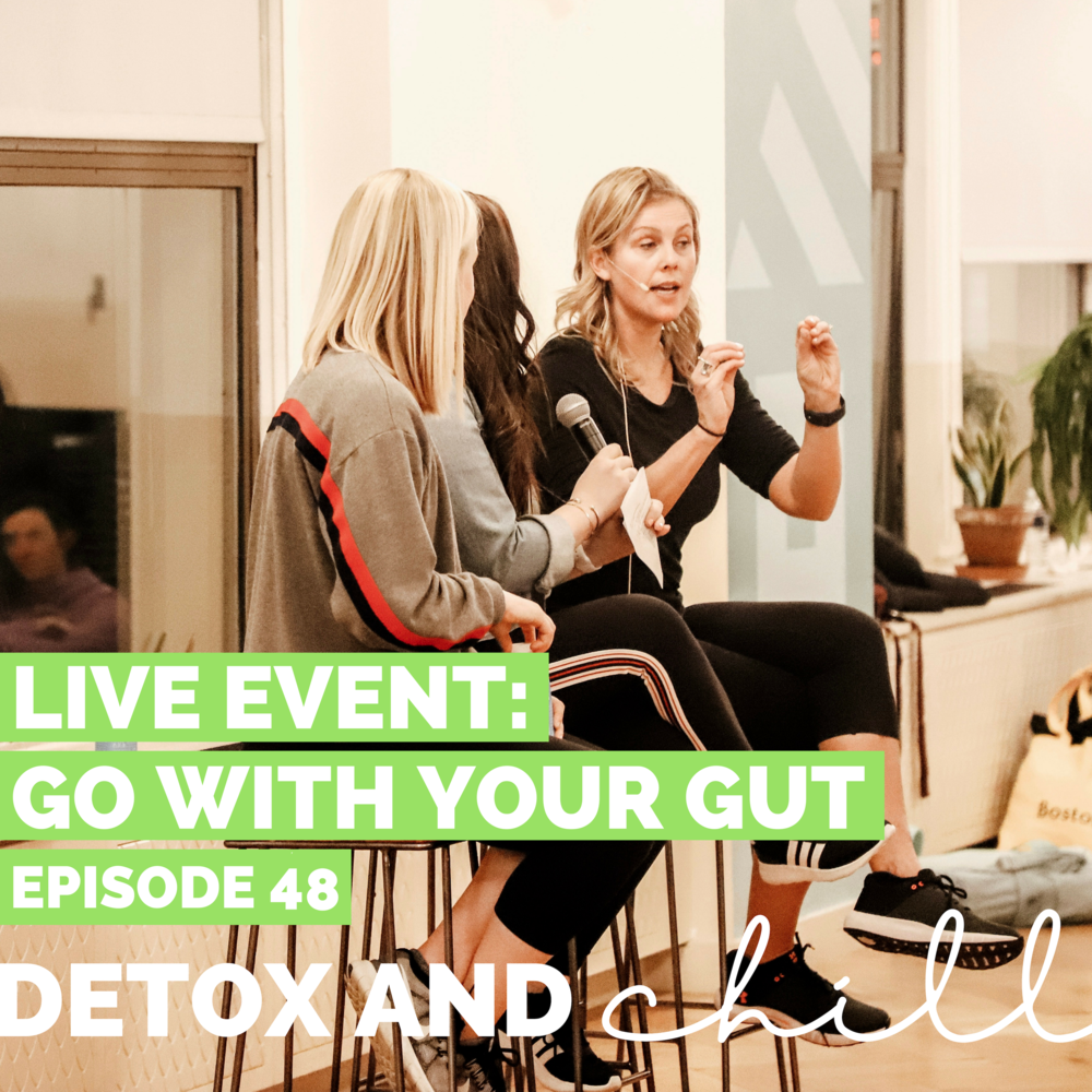 Episode #48: LIVE Event ft. Charity Lighten of Silver Fern Brand // Go With Your Gut - This episode gives us chills. You know when you set huge goals for yourself and worry whether or not you'll actually make it across the finish line successfully?We're not going to lie fam, we felt SCARED about last Thursday's event. And we were absolutely, positively amazed by the positive response we received.Honestly, to say we are floored is an understatement. THANK YOU to each and every one of you for coming to our Go With Your Gut event last night, featuring the amazing Charity Lighten and Silver Fern brand.We truly couldn't have done it without our wonderful sponsors — shoutout to Silver Fern, WeWork, AquaVitea, Four Sigmatic, Dig Inn, Busy Beauty, Lauren B Beauty, Chosen Foods, Beekeeper's Naturals, Wildbrine, Jinjur Drops, and True Moringa. What a lineup!Final thoughts as we head into the week:1. YOU are in control of how you feel. No one else.2. YOU are powerful, beautiful, and resilient.Let's take these positive vibes, keep them rolling, and get after it!Remember to use code DETOX15 for 15% off of your Silver Fern order.We'd be honored if you took the survey HERE, so we can keep these events coming and do more of what YOU want!We love you guys. Our hearts are full. We are so humbled.Xoxo,Meg & BeckWhere to Find Us:Find Silver Fern's website HERE.Follow Silver Fern on Instagram HERE.Follow Charity on Instagram HERE.Follow Detox & Chill on Instagram HERE, check out prior episode HERE and join our facebook group HERE.