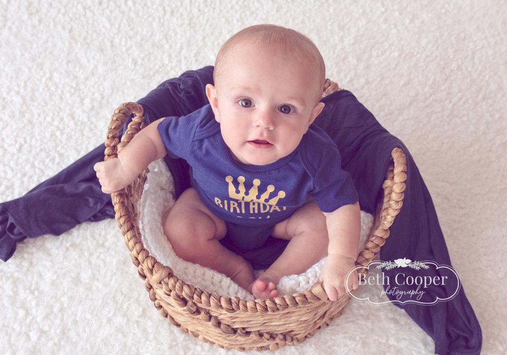 76482a250a2 6 month milestone session Burlington photographer studio photography newborn  session