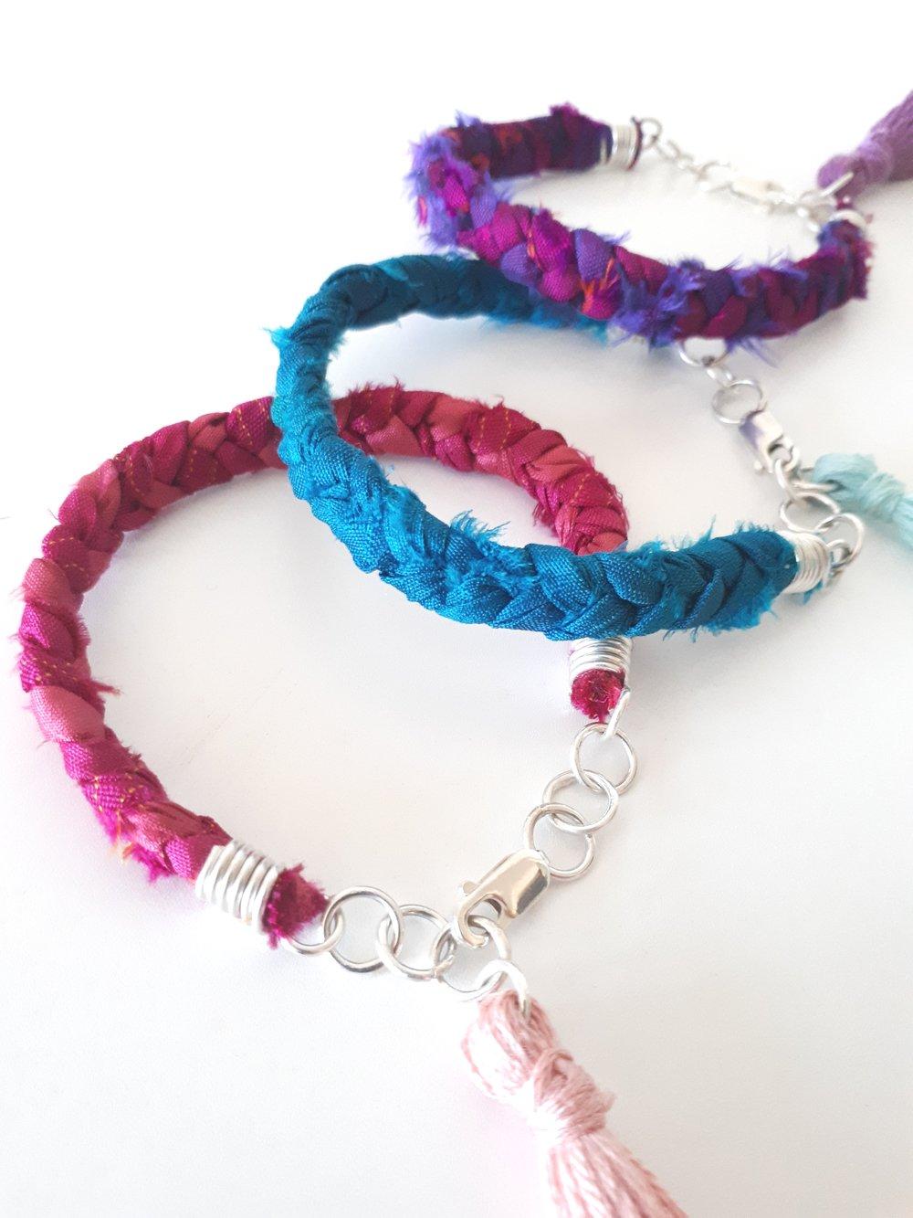 Recycled Sari Silk Jewellery