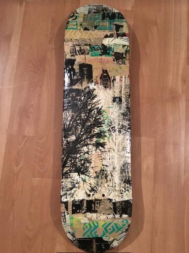 "Jenevieve Reid  ""Behind the Trees"" | 8.25"" x 32"" x 3"" | $800"