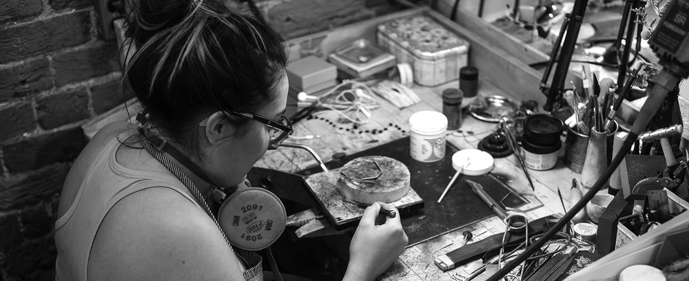 Tamika at her bench , NSCAD University 2017