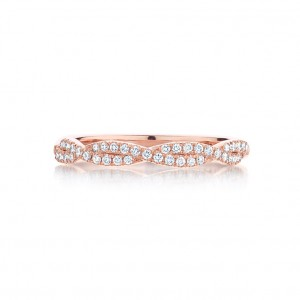 THE TWIST DIAMOND ROSE WEDDING RING