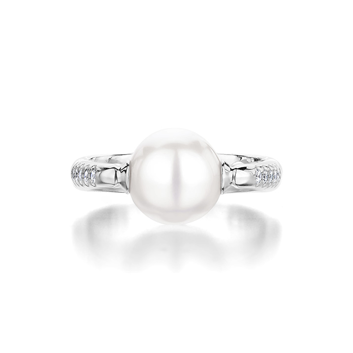 Ecksand Pearl Diamond Glueless Ring