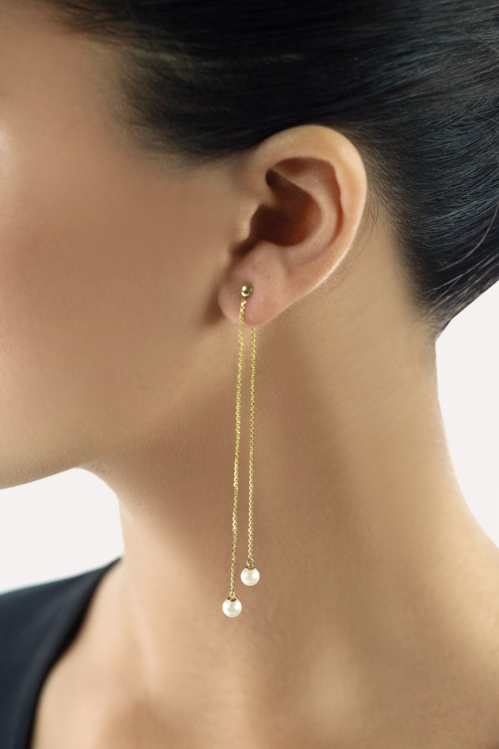 Long Dangling Pearl Earrings - $700 CAd