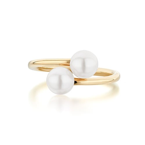 Twin pearl Ring - $680 CAD