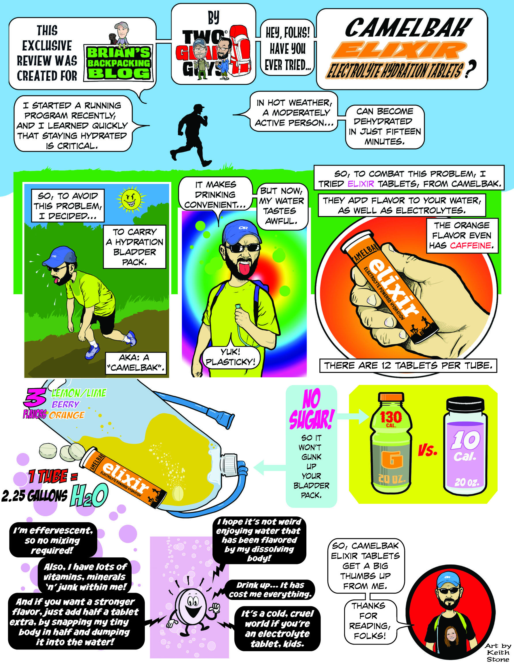 Infographic: Camelbak Elixir Electrolyte Replacement Tablets