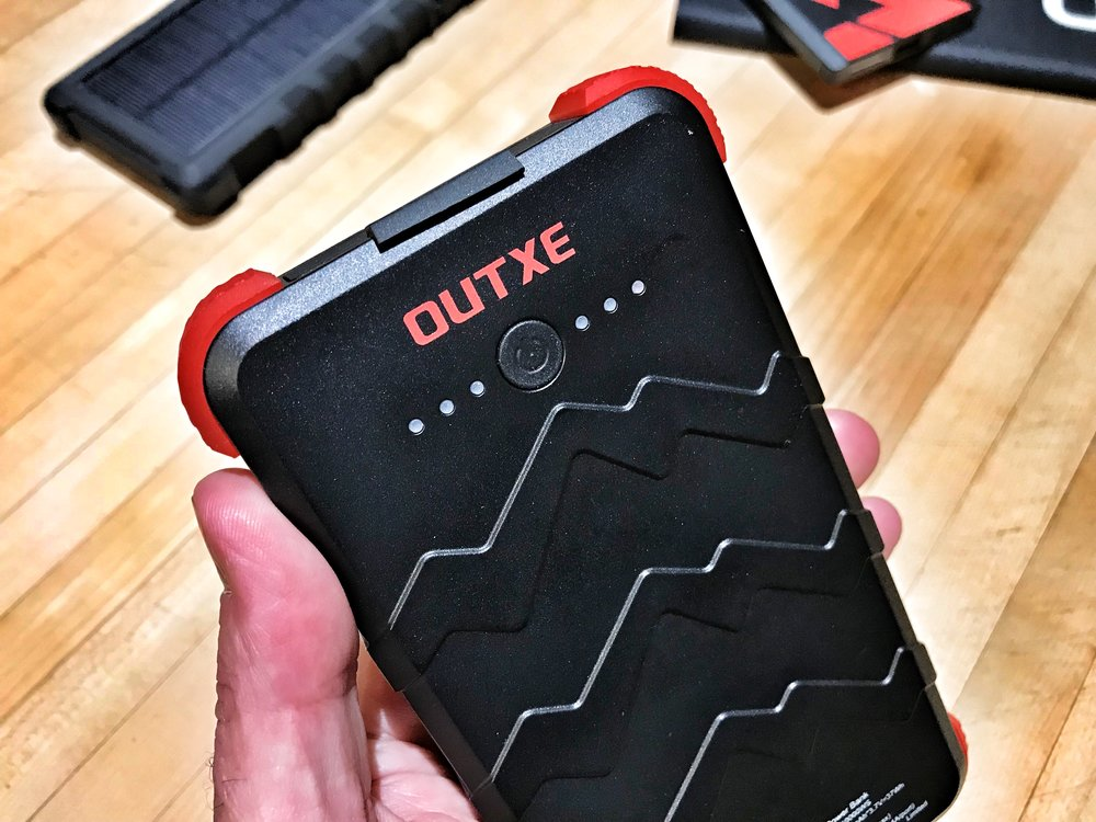 OUTXE 10000mAh Rugged Solar Portable Power Bank