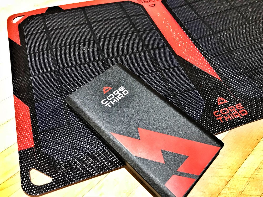 CoreThird 5000mAh Light Weight Power Bank & Maasai 10 Solar Panel
