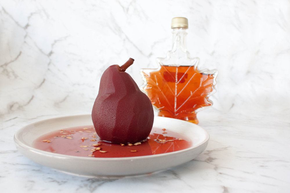 4. plate your pear -
