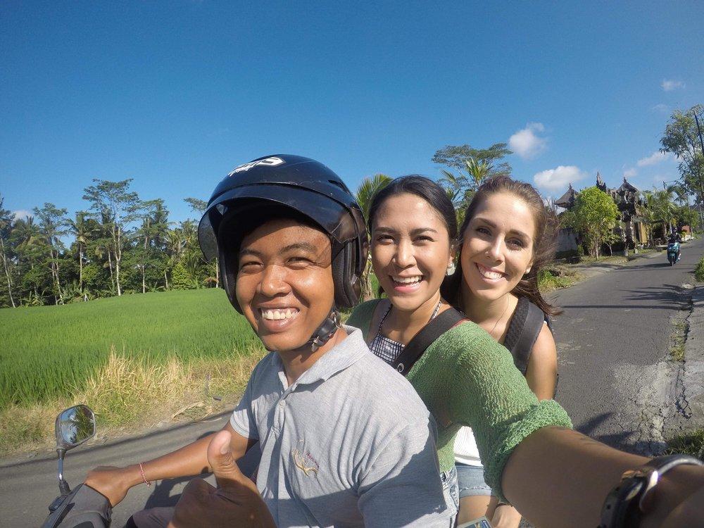 Kitty Gang in Bali - Local driver