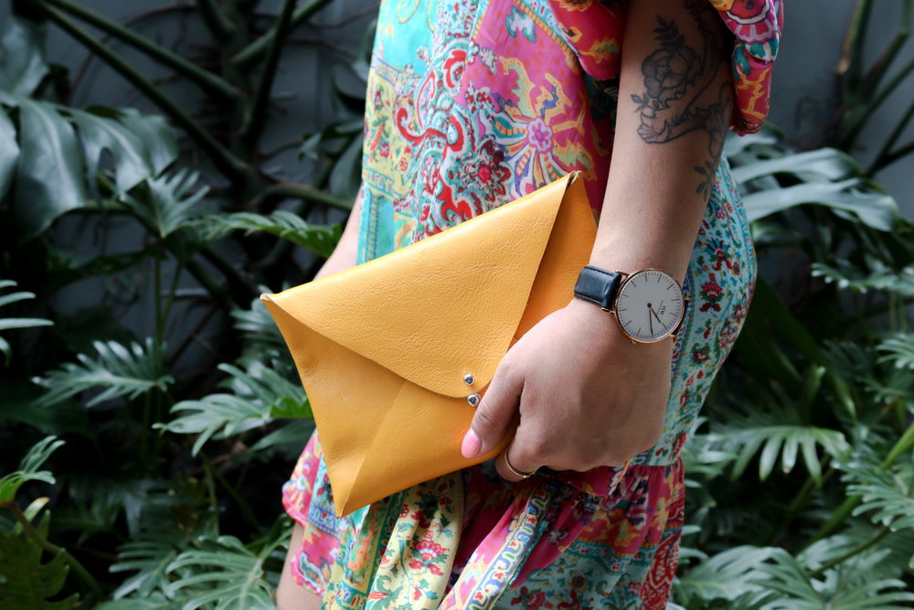 No Sew Leather Envelope Clutch Tutorial