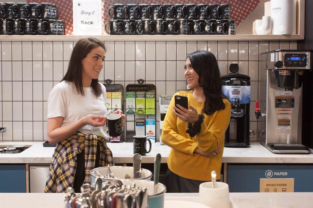 Kat and Katy at WeWork