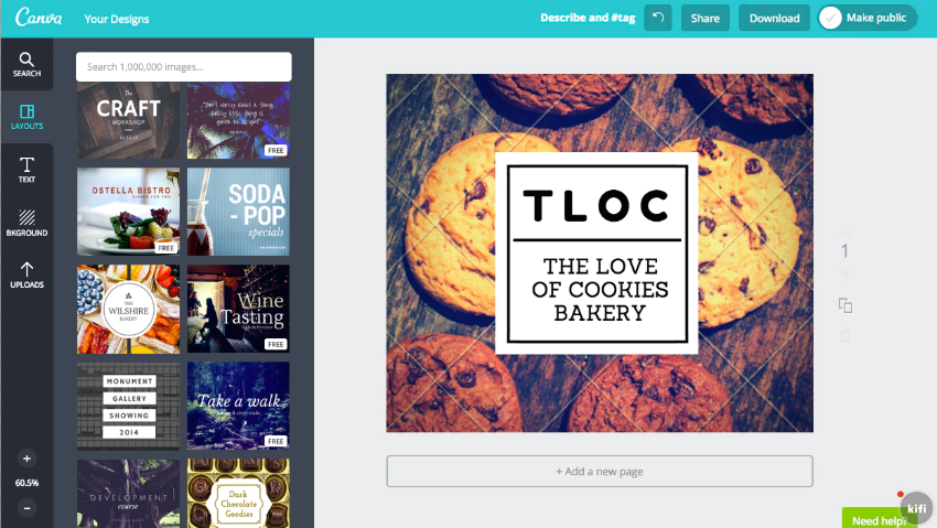 Canva Template Page