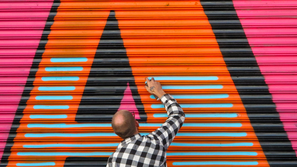 Ben Eine - Born in London, Ben Eine is one of the most successful street artists in the world and is regarded as a pioneer in the exploration of graffitti letterforms.Read more