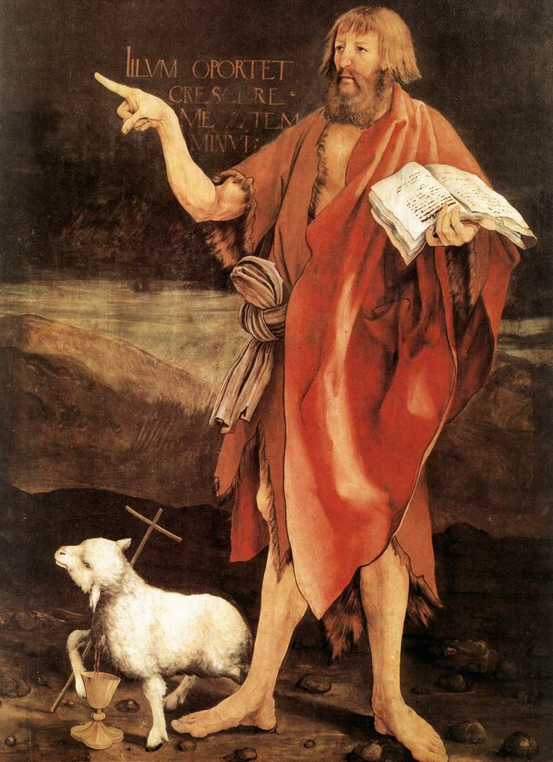 John the Baptist; pointing believers to Christ