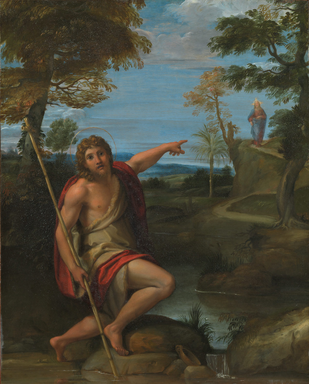 John the Baptist Bearing Witness, by Anabale Carraci (1600–1602)
