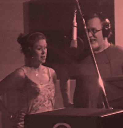 Kristin Rodreick Wilson, Matthew Rodreick laying down backing vocals