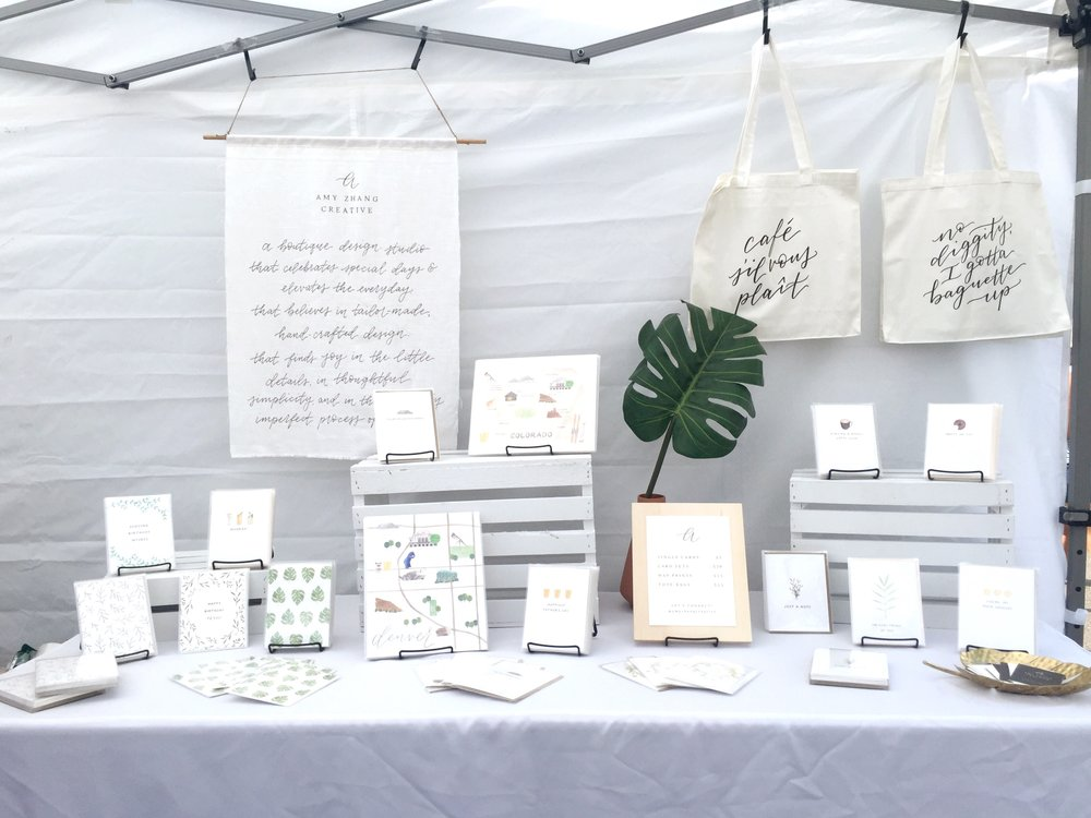 amy zhang creative | old south gaylord street festival | vendor booth display