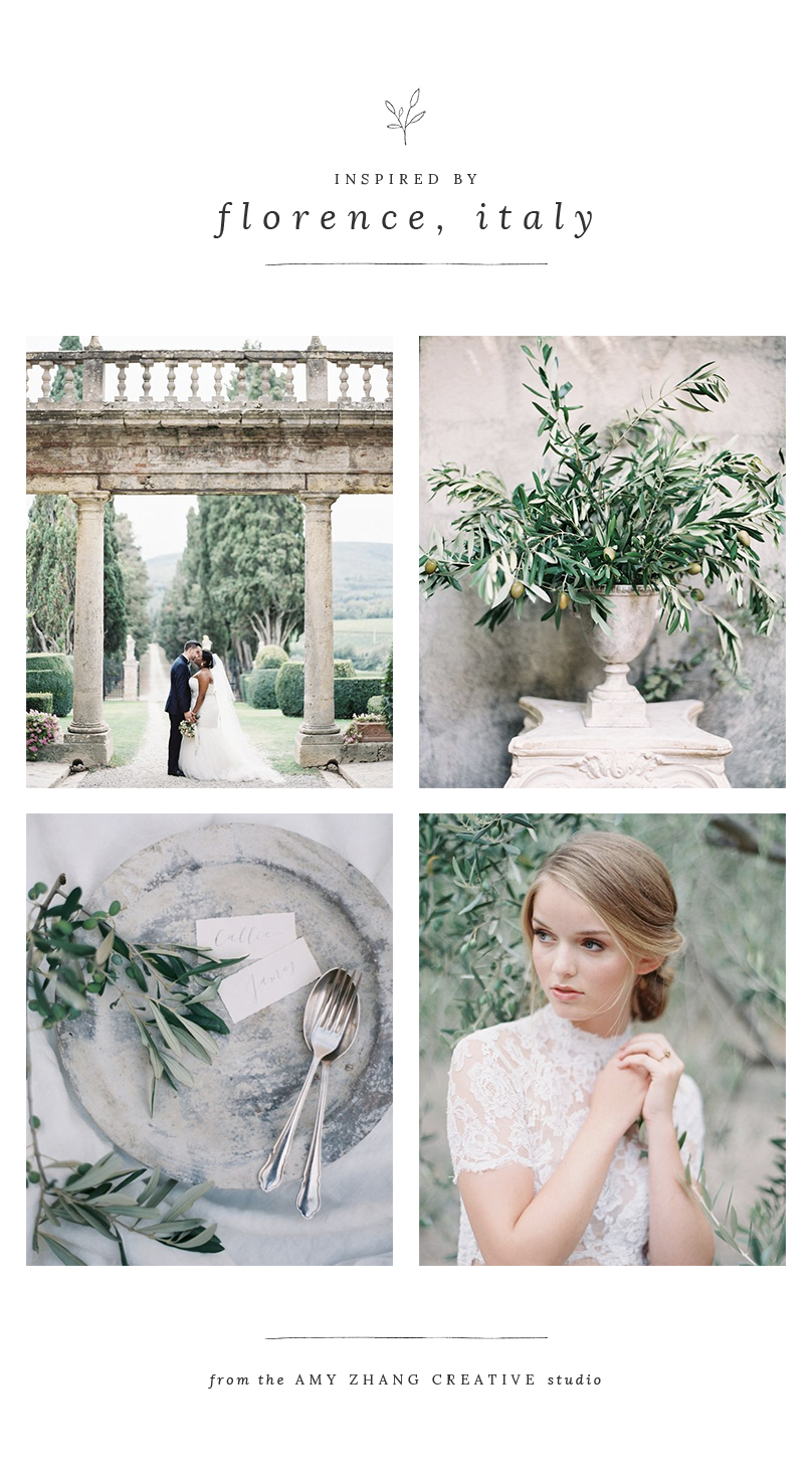 amy zhang creative | italy inspired wedding moodboard | olive branch wedding inspiration | italy wedding inspiration | olive branch wedding stationery | italy inspired wedding invitations