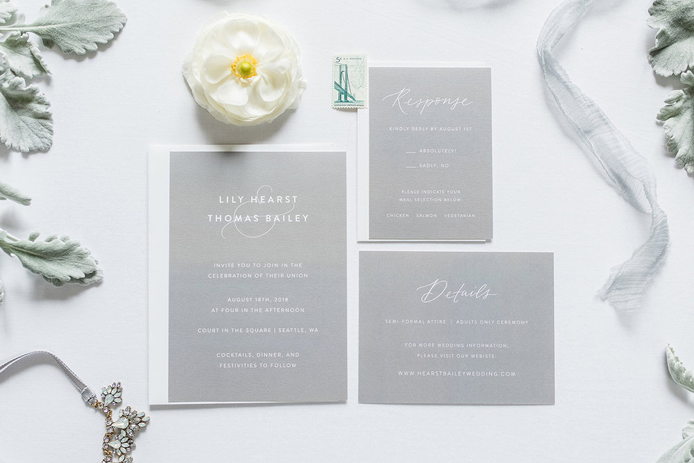 these modern invitations are perfect for the minimalist couple amy