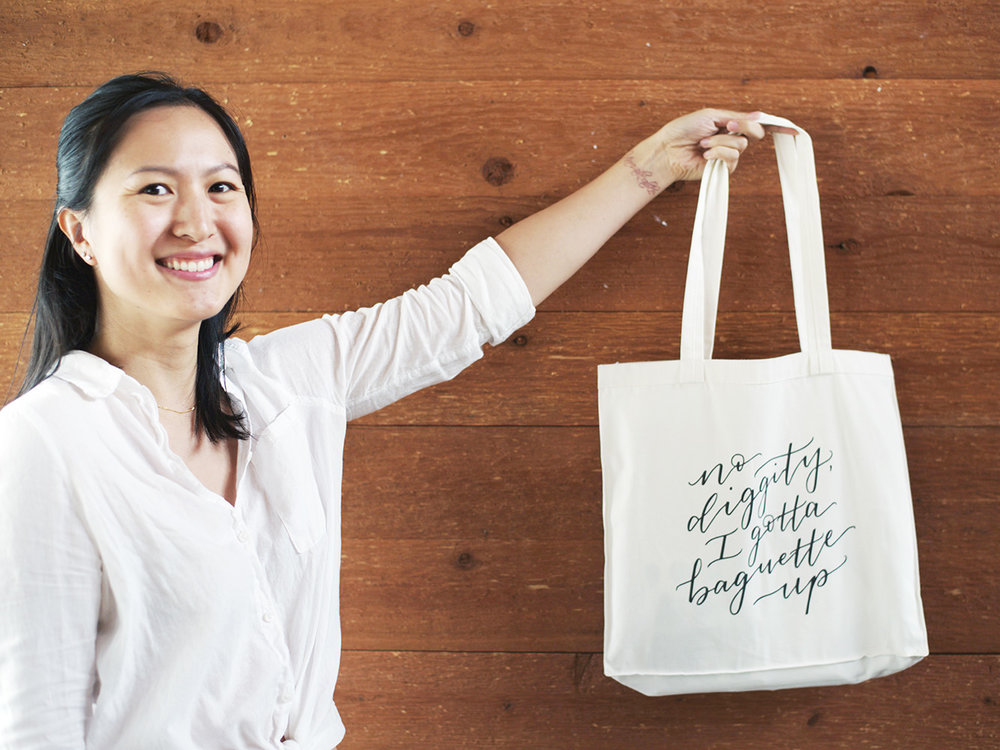 amy zhang creative | new beligum makers market | no diggity tote bag