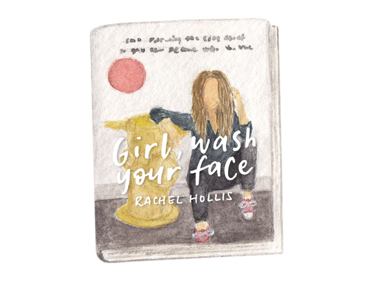 amy zhang creative | girl wash your face book illustration