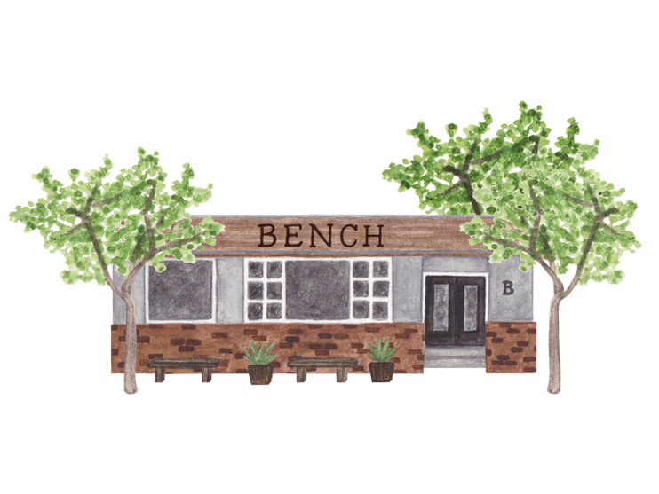 amy zhang creative | bench home san diego illustration | san diego travel guide