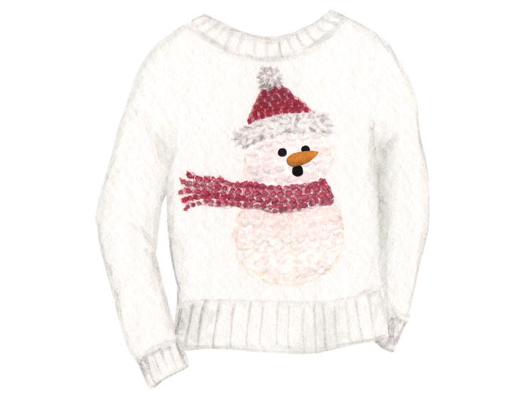 amy zhang creative | ugly christmas sweater illustration