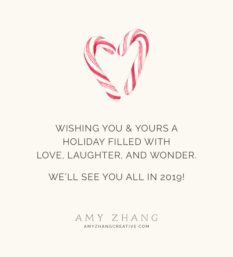 amy zhang creative | wish you the happiest holidays
