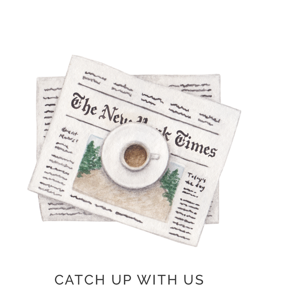 amy zhang creative | new york times paper and coffee illustration