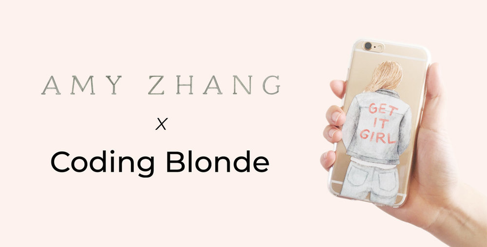 amy zhang creative x coding blonde | illustrated accessories and tees for badass boss babes