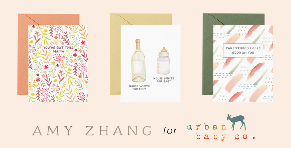 amy zhang creative x urban baby | funny new baby cards | funny motherhood and parenthood greeting cards