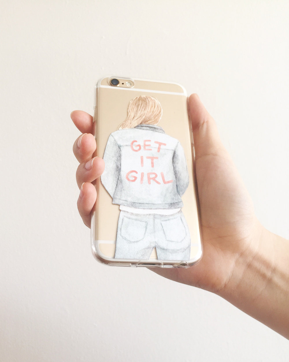 amy zhang creative x coding blonde | get it girl phone case | empowered boss babe collaboration