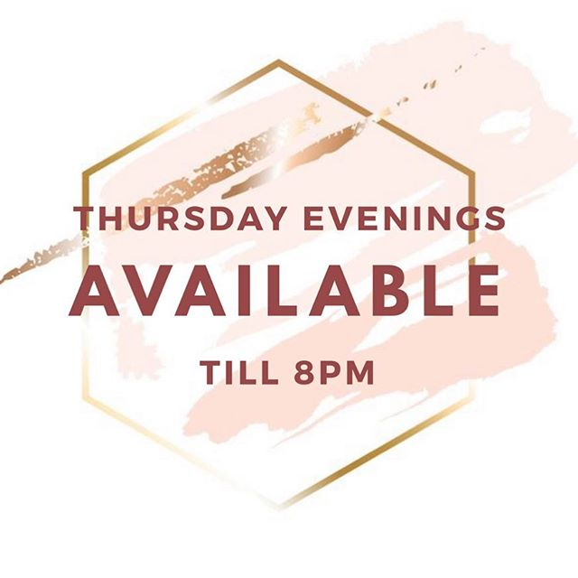 Along with our new waxing and tinting services @sobo_studio we now do Thursday evening late night trading! So make sure you book in your appointment to avoid disappointment. See you sooooon 💕