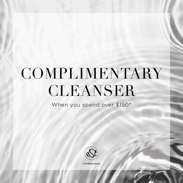 ✨Our March special✨ Spend $150 on any skincare treatment or skin care product to receive a complimentary cleanser!  First in best dressed (some t&c's apply)