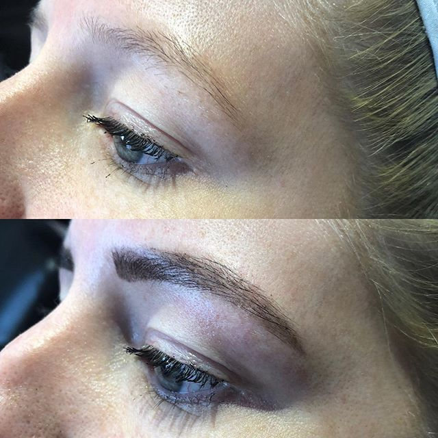 Before and after using @le.marque.au Henna and brow tidy up. Brows can truly change your whole look! Appointments available tomorrow night book online www.sobo3195.com.au