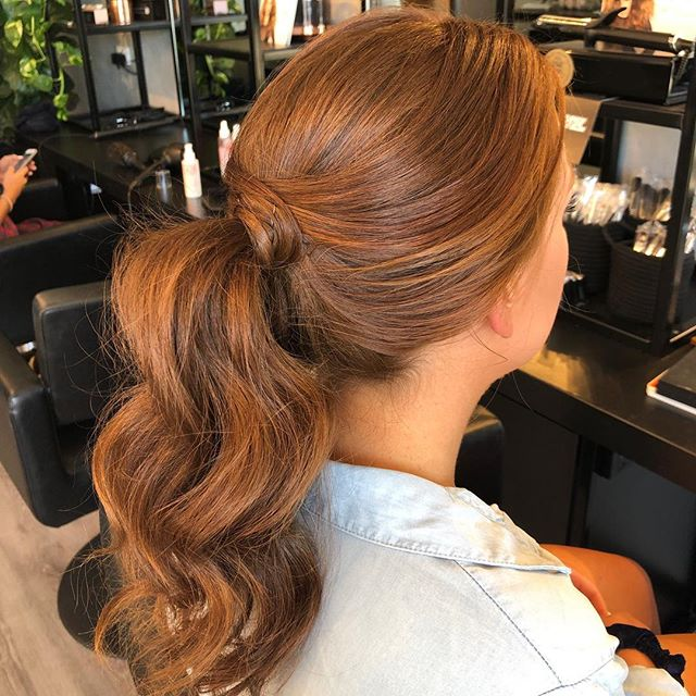 Textured ponytail on the beautiful Emily for her formal ❤️ Hair by Kitty...