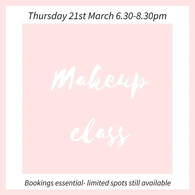 No experience necessary... this class is for beginners! We have designed this class to help you understand your features and provide you with the essential skills to apply beautiful makeup on yourself. Come and enjoy some bubbles and nibbles when we do our live demo- then recreate it on yourself- with our help of course!!!! Tickets via our website! Hope to see you there! Xxx