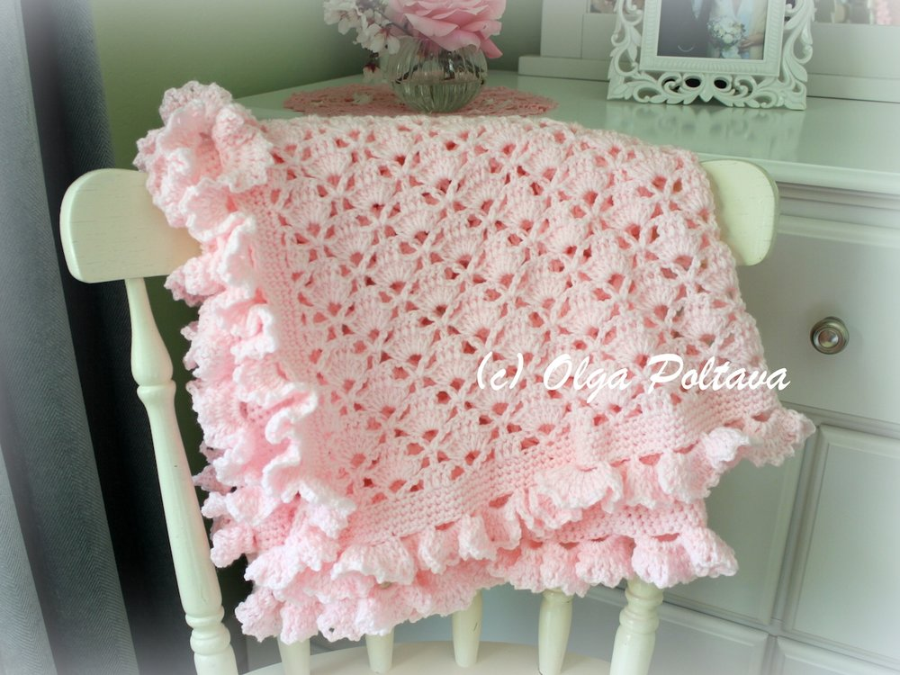 Lace Cupcakes Baby Blanket