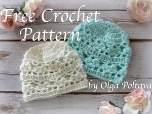 607f77fd5 Newborn Hat with Lace Design, Free Crochet Pattern — Olga Poltava