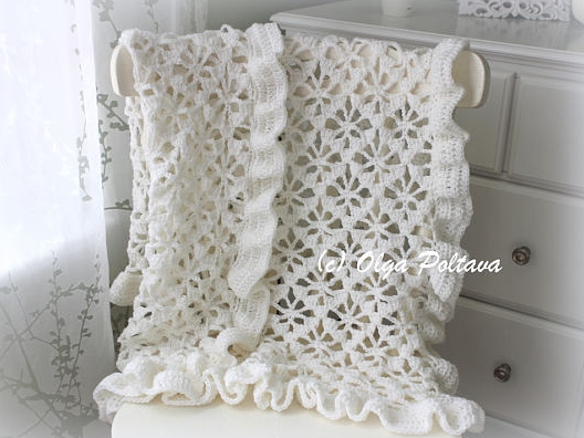 Spider Lace Baby Blanket