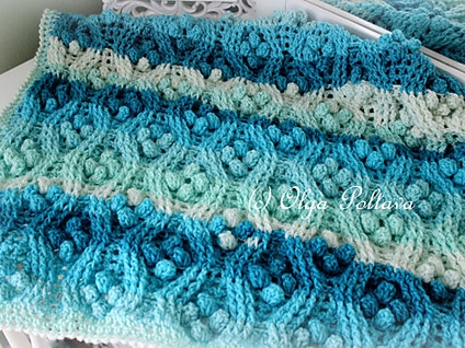 Cables and Popcorns Afghan