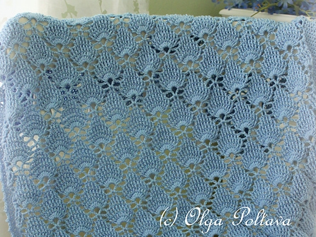 Blue Lace Blanket
