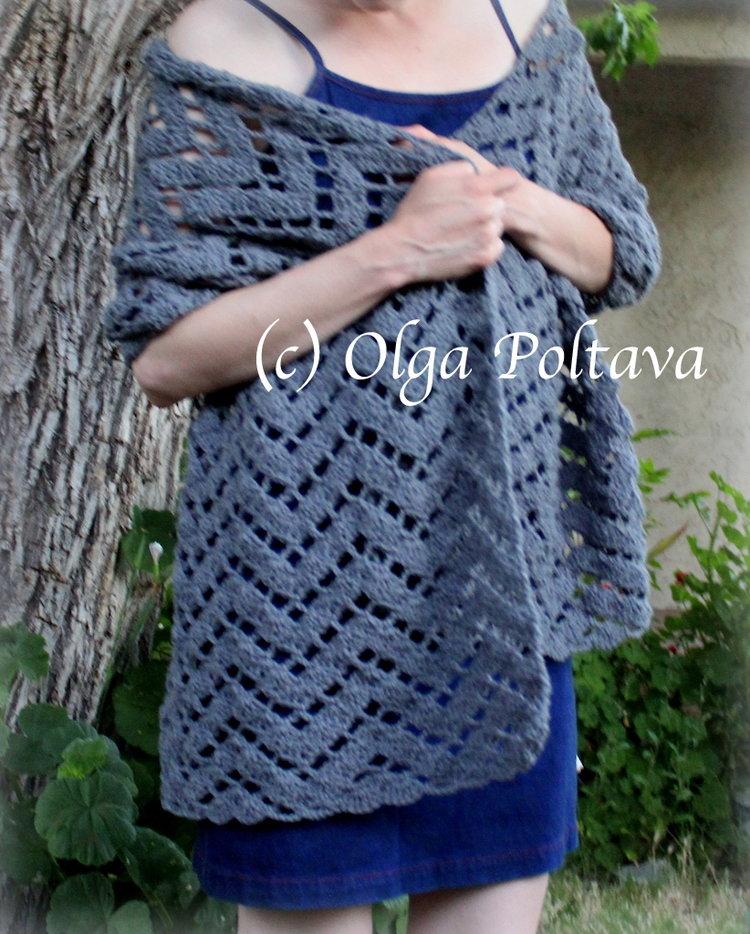 Charcoal Summer Shawl Free Crochet Pattern Olga Poltava