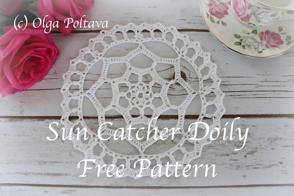 Sun Catcher Doily Free Crochet Pattern Olga Poltava
