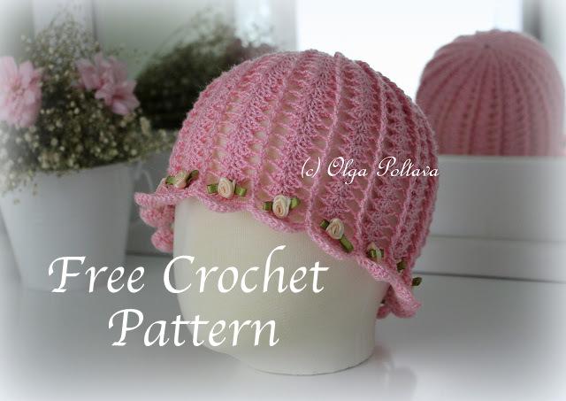 705592097 Shells and Tiny Roses Summer Hat Free Crochet Pattern — Olga Poltava