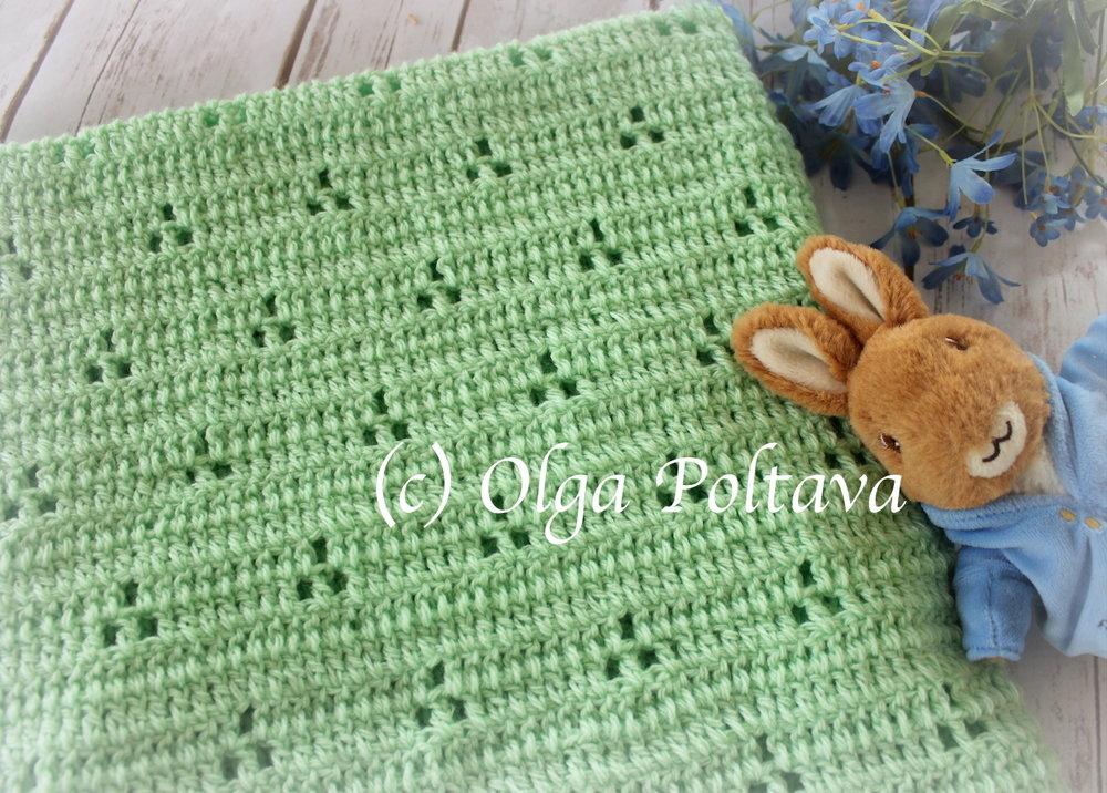 rabbit tracks crochet baby blanket 3.JPG