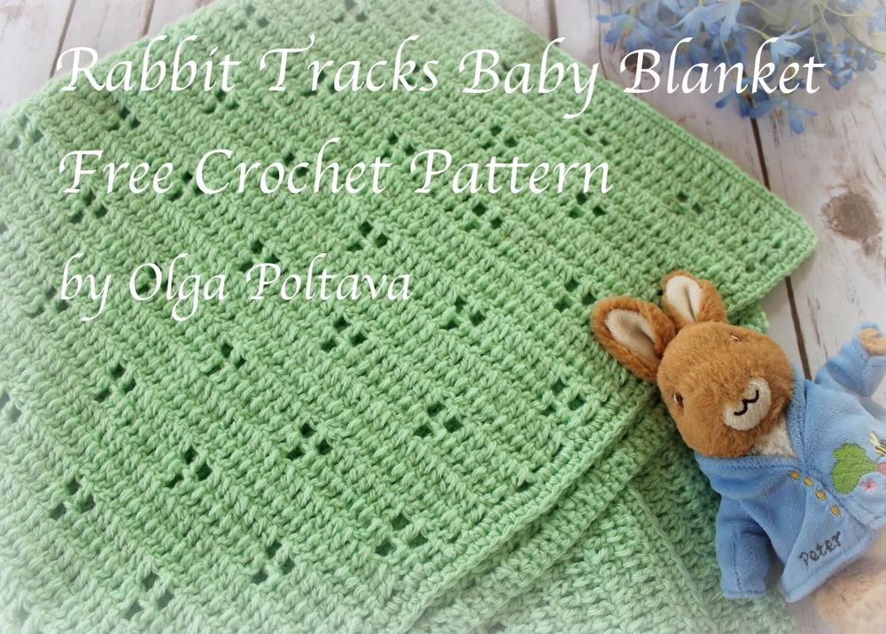 Rabbit Tracks Baby Blanket Free Crochet Pattern Olga Poltava