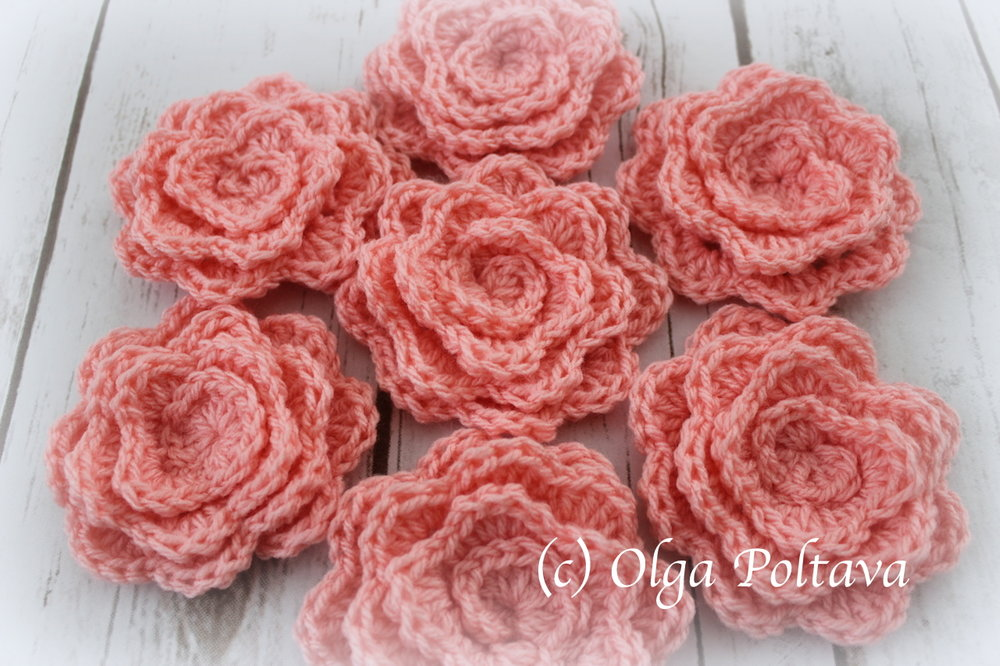 Rolled Up Crochet Rose Easy And Quick To Make Free Crochet Pattern